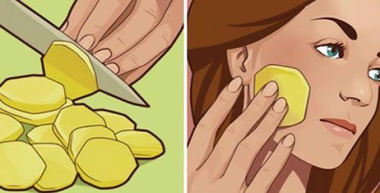 Strofina una patata sul viso tutte le sere e guarda cosa succede il giorno dopo