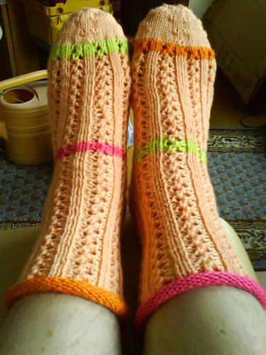 Mellis Socks pattern by Kristin Benecken