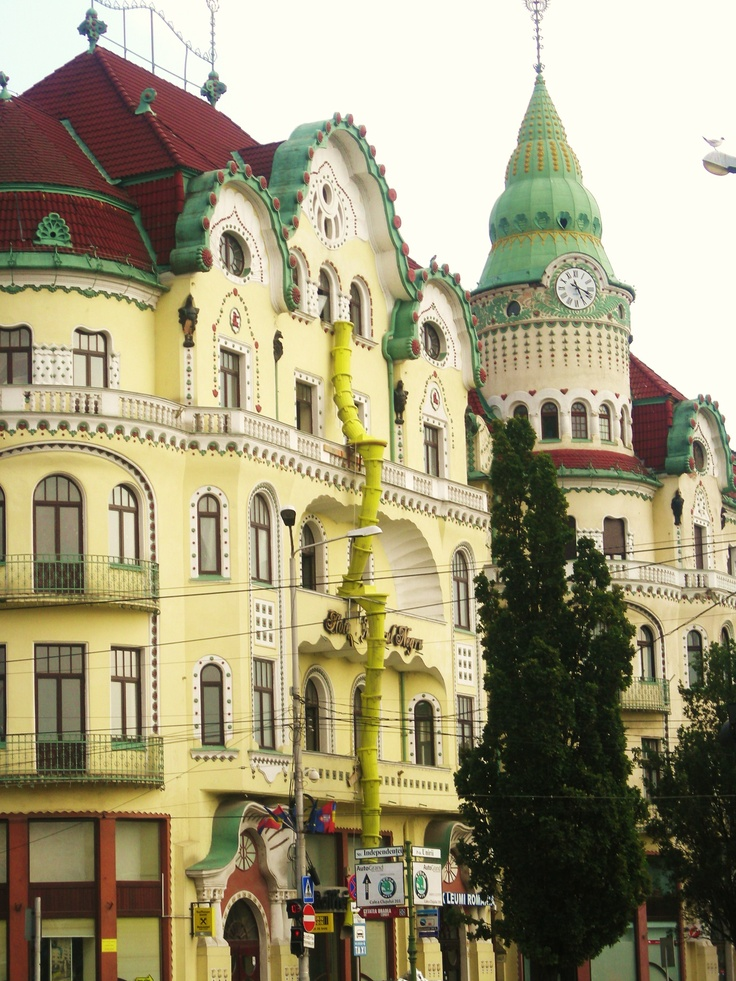 Oradea, Romania - it looks like a cake more than a building! I love it