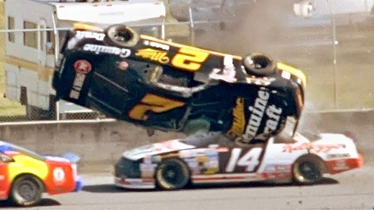 Rusty Wallace airborne crash at Daytona 500 (February 14,1993) THE MOST ...