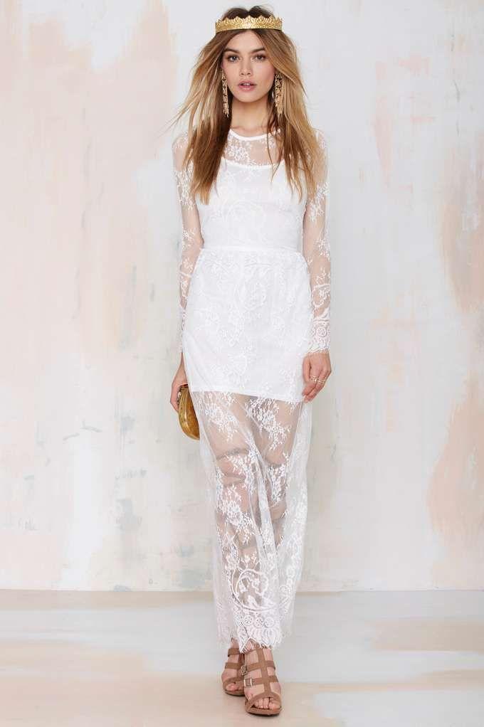 Reverse Lace Lady Maxi Dress