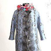 Купить или заказать Длинный валяный жилет туника  в стиле бохо в интернет-магазине на Ярмарке Мастеров. Красивая универсальная многофункциональная вещь. Приятное для глаз сочетание природных цветов-коричневый,зеленый,бирюза. Крашеная марля,итальянская шерсть и волокна вискозы. С длинной юбкой-вечерний наряд,с джинсами и брюками -стильный бохо образ. Размер 48-50-52. Реальный цвет- фото 4. Метки-жилет бохо_ одежда бохо_стиль бохо_туника бохо_платье бохо_богемный шик_богема буржуа_бохо…