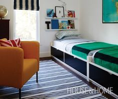 """Wall of beds with storage drawers. 77.5"""" each bed = need 13' wall. Flaxa bed…"""