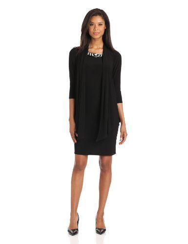Black evening dress 3 4 sleeves vest
