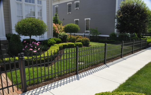 Crisp clean landscaping.  Landscaping ideas