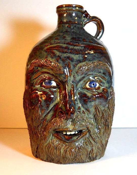 Ben the Moonshiner- Face jug. .00, via Etsy.