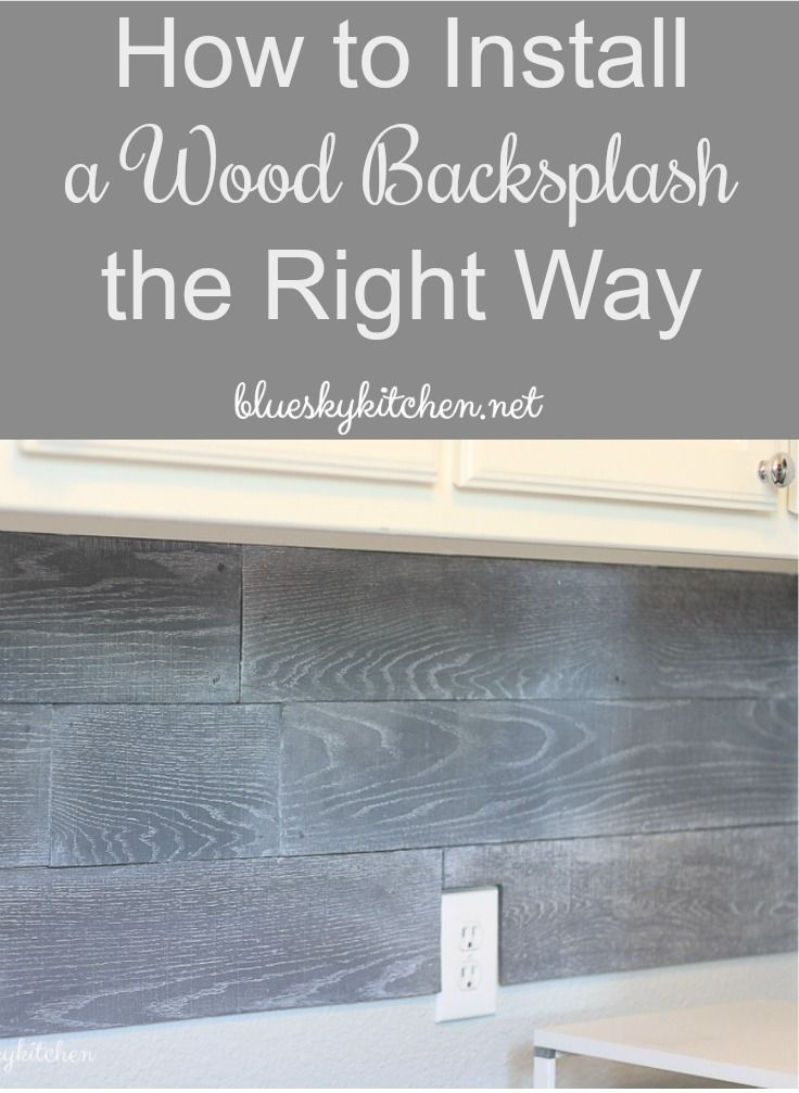 How to Install a Wood Backsplash the Right Way. I'm sharing the do's and don'ts we discovered installing our Pallet Wall in a Box in our laundry room. (scheduled via http://www.tailwindapp.com?utm_source=pinterest&utm_medium=twpin&utm_content=post183684481&utm_campaign=scheduler_attribution)
