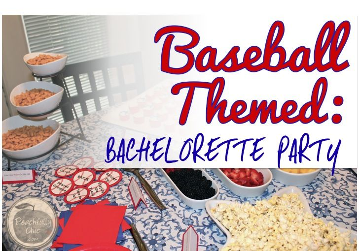 Baseball Themed Bachelorette Party