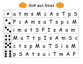 This is an activity to help prepare students for taking the DIBELS letter naming fluency assessment.  The children will roll a dice and read the row of letters next to the number that he/she rolled.