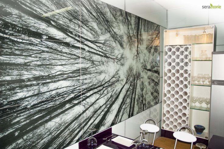 Vidrio con EVA en sistema Serastone para la pared de tu cocina. ¡Podrás poner la imagen que desees! #decoracion http://www.serastone.com/ Serastone, decoración avanzada. Más de lo que podrías imaginar.