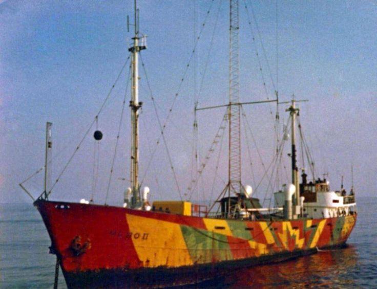 The Mebo II, Radio Noordzee International started in 1970 broadcasting on 220 metres medium wave