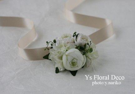 白いお花 花冠&リストレット : Ys Floral Deco Blog