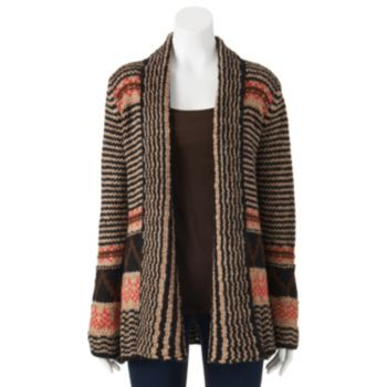 Pink Republic Cable Knit Cardigan - Juniors