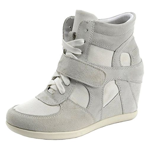 Suede Leather Hidden Wedge Sneakers (teen fashion)