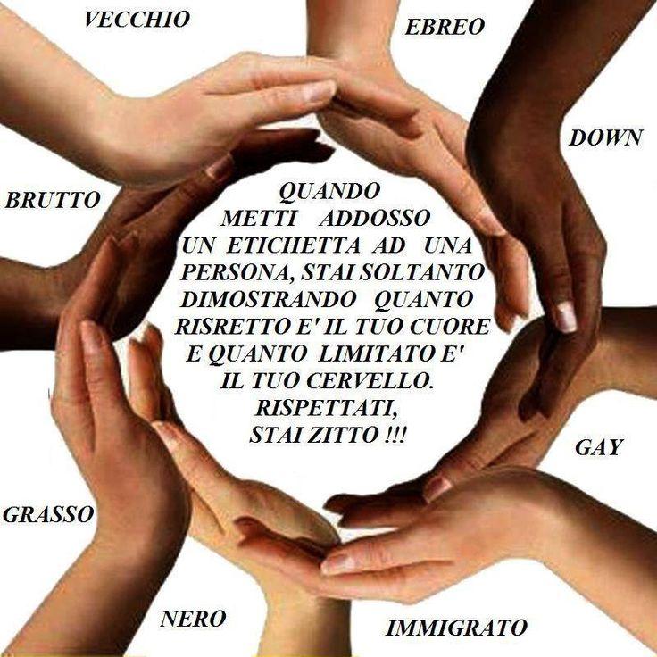 Purtroppo oggi il mondo è pieno di discriminazioni!