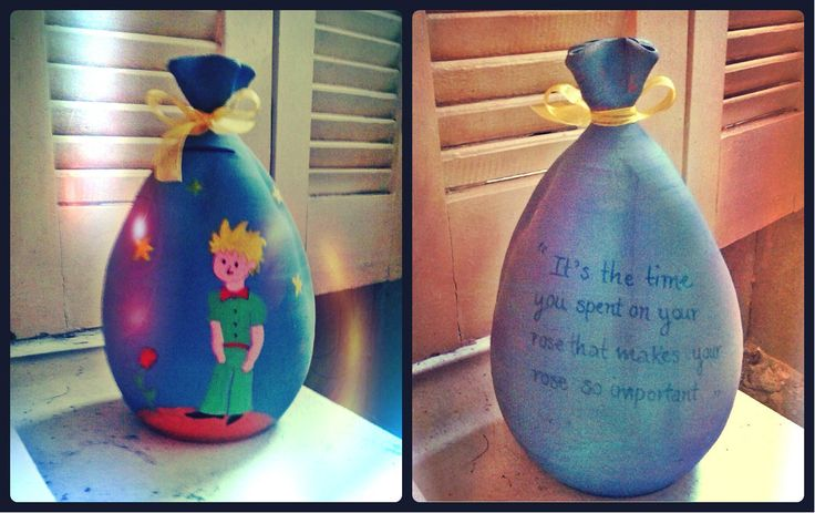 "Another ""piggy""-bank themed with little prince and a quotation from the book on the back. Hope you like it! :)"