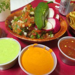 Los Moreno Taqueria - from the salsa bar - San Mateo, CA, United States