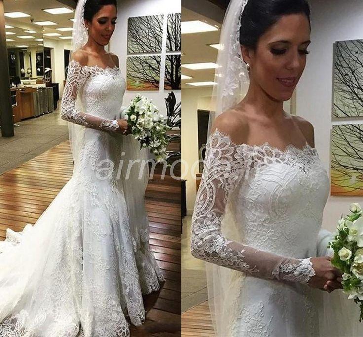 ... hall sur lépaule de robe de mariée Robe de Mariée en Dentelle (2