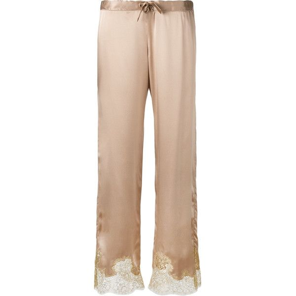 Gilda & Pearl - Gina pyjama bottom - women - Silk - M ($440) ❤ liked on Polyvore featuring intimates, sleepwear, pajamas, silk pajama bottoms, silk sleep wear, lingerie sleepwear, lingerie pajamas and silk pjs