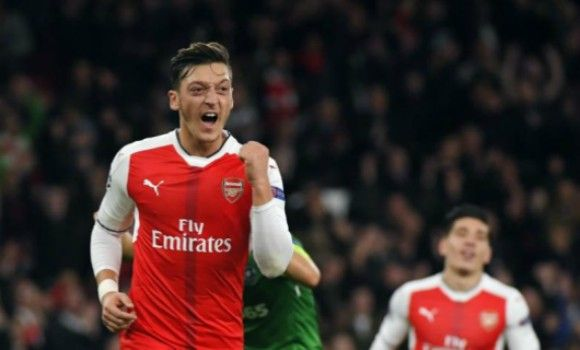 Mesut Ozil scores his first ever professional hat-trick as Arsenal win 6 - 0