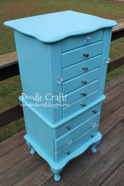 DIY: Vintage Jewelry Armoire, very similar to the one we found in a pawn shop in Utah.  Can't wait to paint it up!