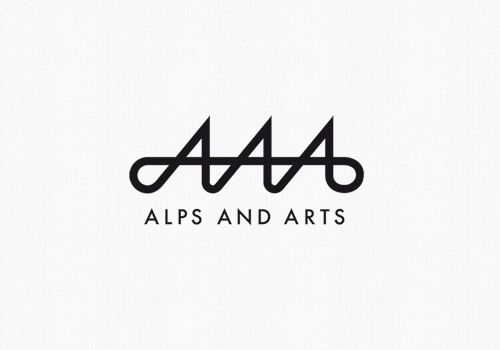 #logo #design JW: CATEGORY: Using Type to Create an Image COMMENTS: This is a very well designed logo using the letter A to create Alps