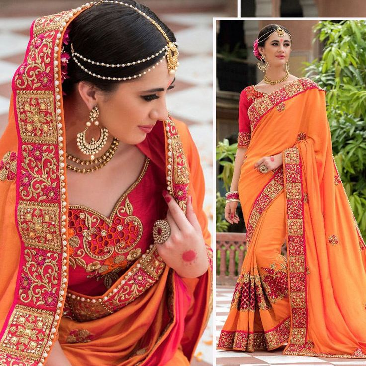 Wedding Designer Indian Bollywood saree embroidered unstiched blouse bridal Sari | eBay