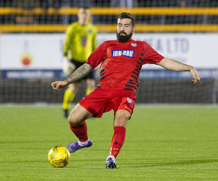 Queen's Park's Bryan Wharton in action during the Ladbrokes League One game between Alloa Athletic and Queen's Park.