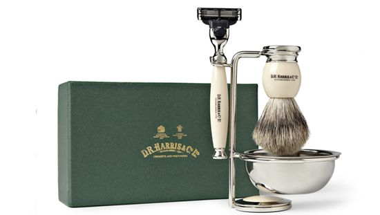 Dr. Harris 4-Piece Shaving Set http://www.hommestyler.com/valentines-day-gift-for-men/