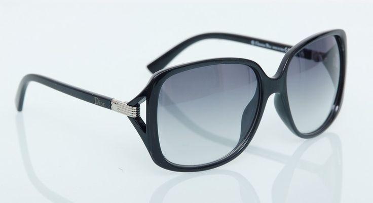 Солнечные очки Dior черного цвета в фирменном чехле и упаковке #19169