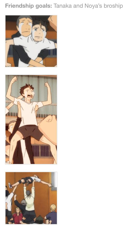 Relationship goals: Tanaka's and Noya's bromance