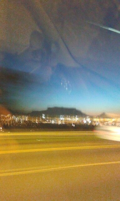 Cape Town, Table Mountain at night