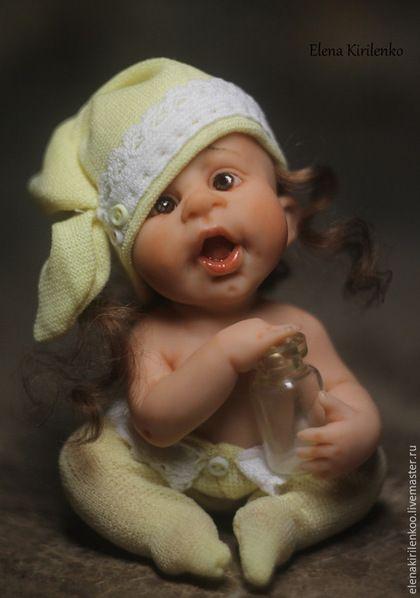 """Коллекционные куклы ручной работы. Ярмарка Мастеров - ручная работа. Купить """"Капитолина"""". Handmade. Желтый, Кукла-младенец, living doll"""
