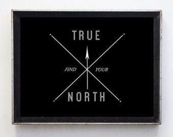 Items similar to Grey Compass True North Home Decor 8x10 Fine Art ...