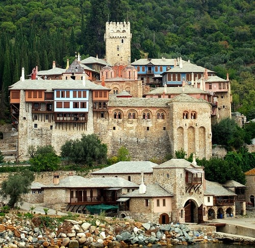 agion oros, mount athos, greece. Only men are allowed