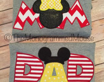 mom and dads mickey mouse t-shirt on Etsy, a global handmade and vintage marketplace.