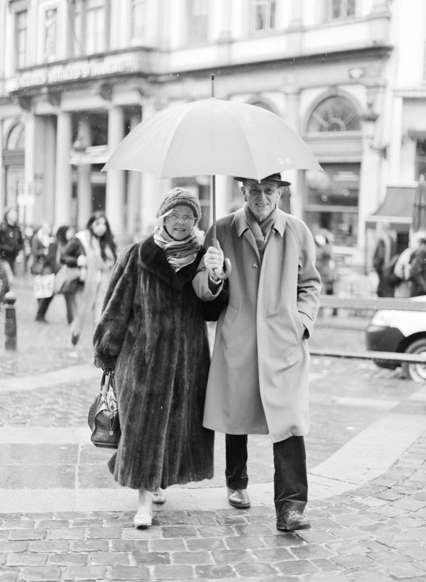 Elderly couple in Brussels | Photo by Brumley & Wells
