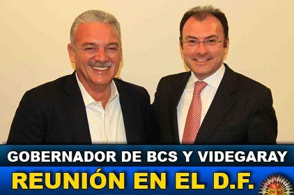 Gobernador de BCS se reunió con el coordinador del equipo de Peña Nieto