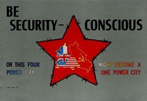 Berlin Cold War Security US Command 1950s - original vintage propaganda poster listed on AntikBar.co.uk