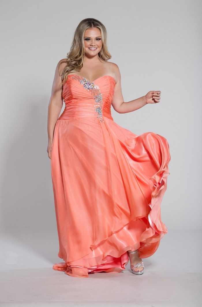 Plus size drop waist formal dress