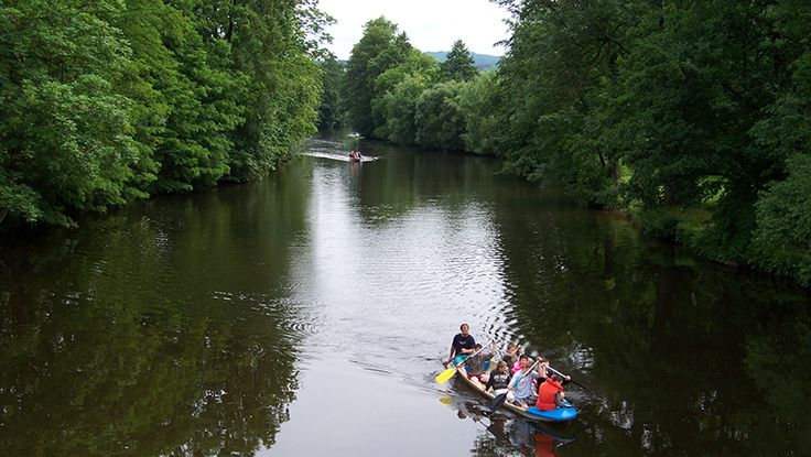Kayaking down Jizera river and lakes