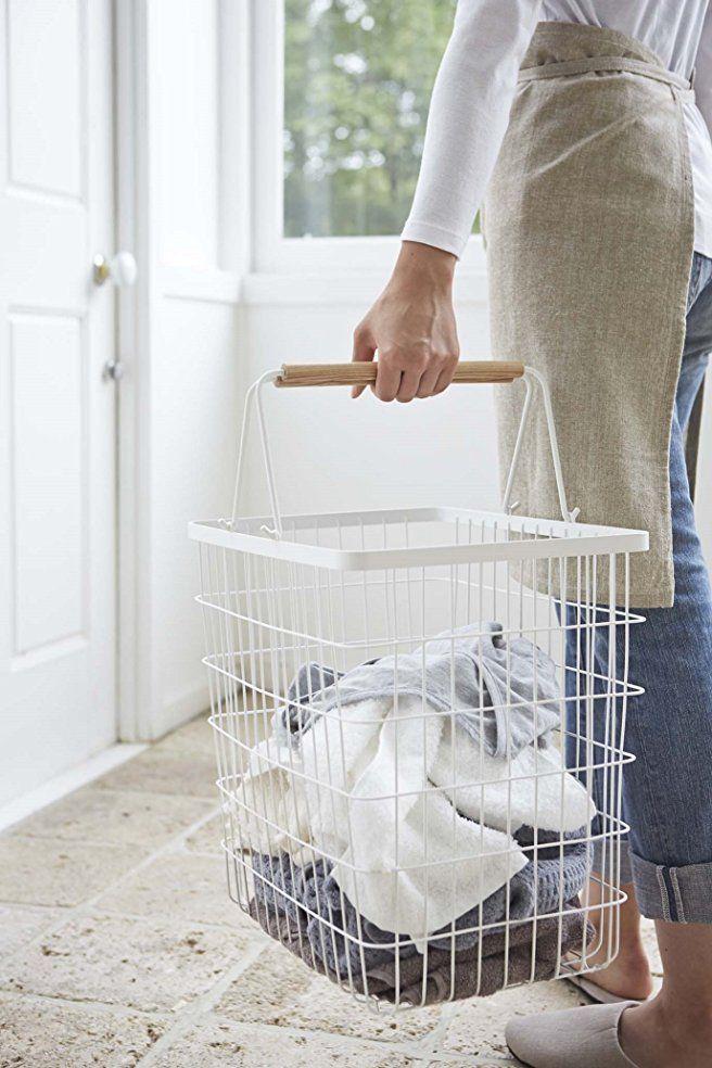 Amazon Com Yamazaki Home Tosca Laundry Basket Large Home