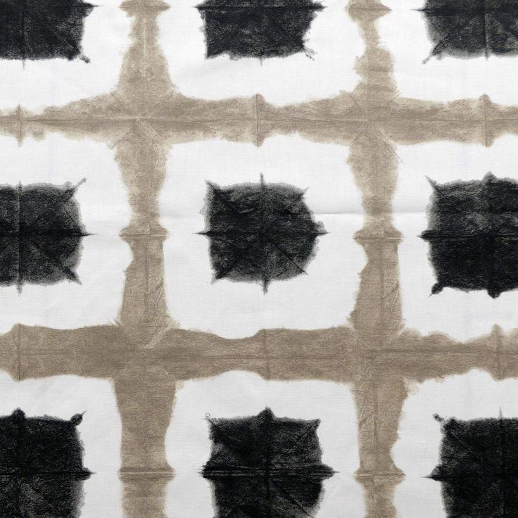 tissu au mètre imprimé BEIGE ET NOIR : Tissus Ameublement par atelier-clair-obscur