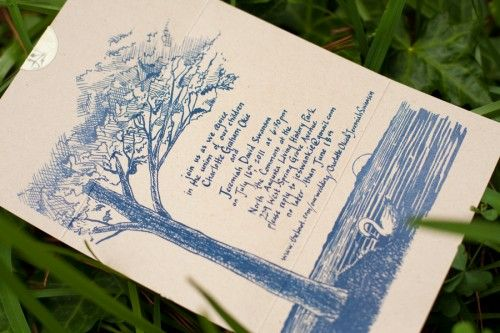 I like the illustration on this wedding invite. Actually, there's lots of neat ideas on this site :)