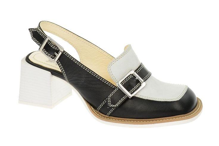Tiggers Sling Pump BLOW in schwarz weiß - Echtleder aus Saison F/S 2014 NEU in Kleidung & Accessoires, Damenschuhe, Pumps | eBay