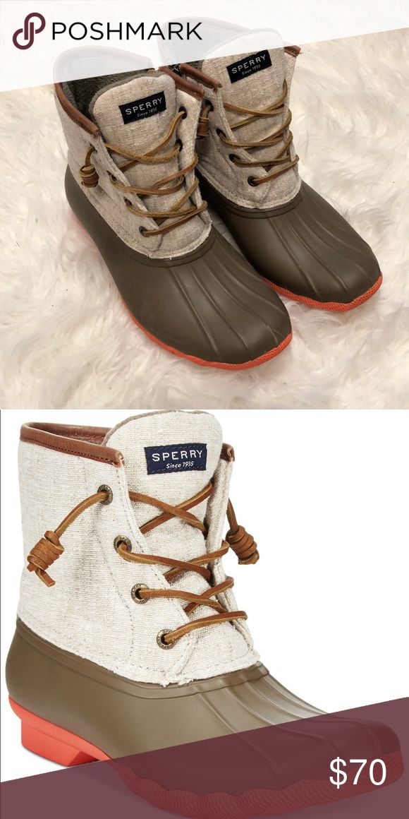 Sperry Duck Boots-Women's Size 7 Women's Sperry Duck Boot- Size 7 Color: Taupe Natural Hemp  Only worn a few time! Like new! Sperry Shoes Winter & Rain Boots