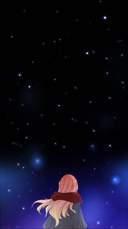 Untouchable webtoon phone wallpaper. Stars. Illustration.