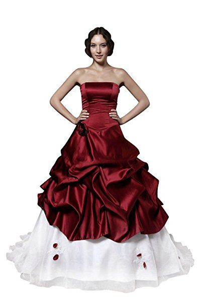 Hochzeitskleid mit bordeaux