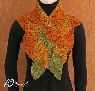 Set your stash free with a quick and colorful crocheted scarf! Worked with one…