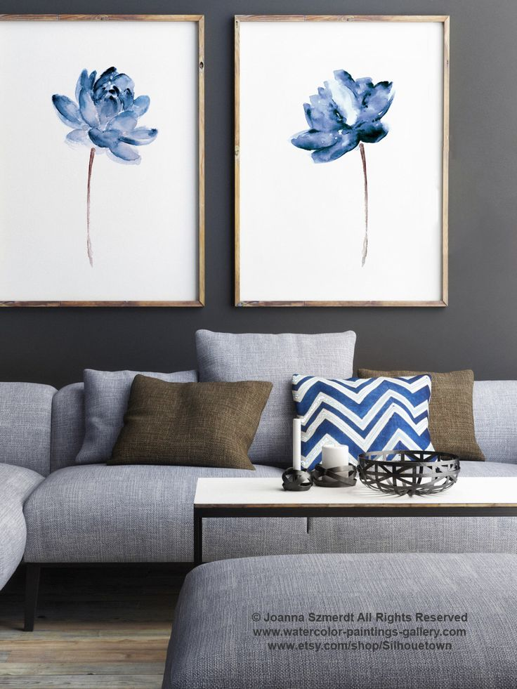 Lotus Set of 2 Watercolor Painting, Blue Water Flowers Art Print, Modern Floral Illustration Wall Decor, Abstract Flower Poster by ColorWatercolor on Etsy https://www.etsy.com/au/listing/249270176/lotus-set-of-2-watercolor-painting-blue